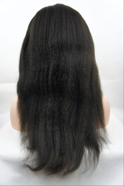 glueless silk top full lace wig back pic