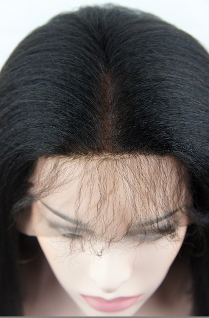 silk top full lace wigs in stock Italian yaki 4x4