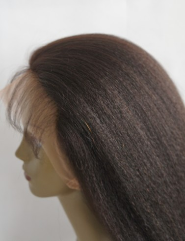 Human hair lace wigs with silk top