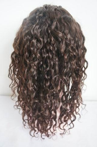 curly 10 mm silk top lace wigs