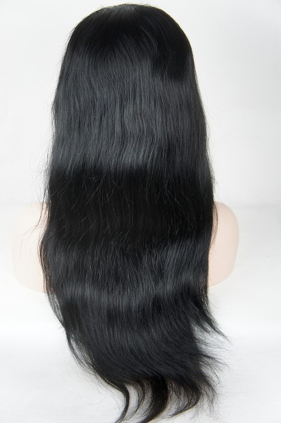 20 inch color #1 natural straight