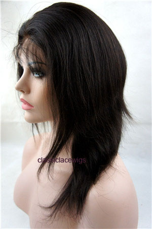 12 inch silky straight natural color Chinese virgin