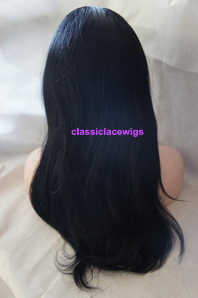 jet black silky straight full lace wigs