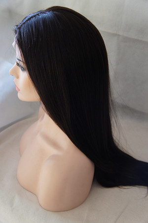 full lace wig silk top