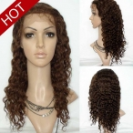 water wave human hair wig 14inch #4 lace Front  wigs 100% Indian remy hair