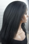 16'' #1 kinky straight human hair lace wigs 100% Human hair lace front wigs