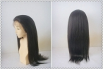Lace wig glueless human hair lace front wigs yaki 20 inch #1b
