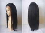 Glueless cap lace front wigs yaki human hair 18 inch #1