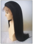 Glueless full lace stretch wig yaki indian remy human hair 22 inch #1