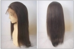 Affordable human hair wigs glueless silky straight lace front wigs 18 inch #4