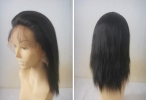 Buy lace front wigs wholesale silky straight remy human hair 8 inch #1