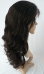 Cheap human lace wigs body wave 12 inch #1b