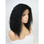 Inexpensive human hair wigs body wave indian remy human hair 16 inch #1b
