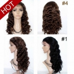 Whole lace wigs human hair body wave indian remy hair 14 inch #4
