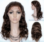 Full lace wigs with baby hair for black women body wave remy human hair 18 inch #4