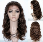 20 inch body wave human hair full lace wigs silk top remy hair 20 inch #4