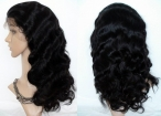 20 inch human hair full lace wigs silk top body wave remy hair 20 inch #1b
