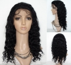 Loose human hair full lace wigs body wave Silk top remy hair 20 inch #1