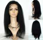 Discount wigs for black women glueless silky straight remy human hair 22 inch #1