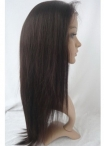 Glueless yaki lace wigs indian remy human hair 16 inch #2