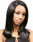 The best top quality full lace wigs silky straight remy hair 14 inch #1b