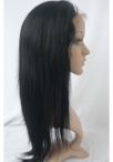 Yaki glueless full lace wig indian remy human hair 16 inch #1