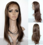 Best glueless lace front wigs silky straight remy human hair 20 inch #4
