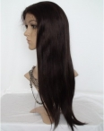 Glueless full lace human hair wigs silky straight remy hair 20 inch #2