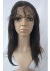 lace wigs with bangs black women silky straight human hair 12 inch #2