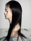 natural straight indian hair human hair lace front wigs 20 inch #1