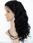 hairstyles for natural black women human hair lace front wigs 16 inch #1b