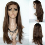 remy hair full lace wig silky straight human hair 22 inch #4