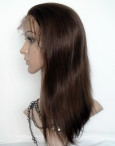 full lace wig cheap yaki remy human hair 12 inch #4