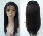 100 human hair full lace wigs coarse yaki 18 inch #1