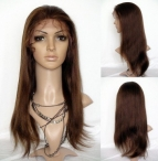 full lace wigs with silk top for black women light yaki indian remy hair 20 inch #4