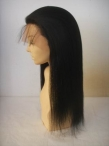 human hair wigs wholesale silk top coarse yaki full lace wigs 16 inch #1