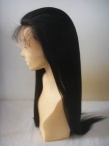 wholesale full lace human hair wigs silk top coarse yaki 22 inch #1