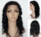 remy body wave hair silk top full lace wigs 18 inch #1