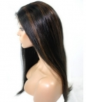 real human hair full lace wigs silk top coarse yaki 22 inch #1b
