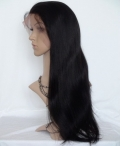 Full lace remy wig silky straight glueless remy hair 20 inch #1b