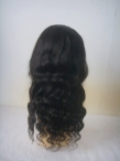 human hair full lace wigs glueless silk top body wave remy hair 20 inch #1b with  #30 shd highlight