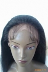 Stock glueless silk top full lace wigs loose wave #1b with 6 clips
