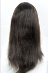 glueless full lace silk top wigs Italian yaki straight 22
