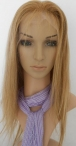 Human hair lace wigs african american women silky straight 14 inch #27