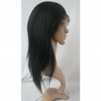 Lace wigs for cheap indian human hair silky straight 12 inch #1