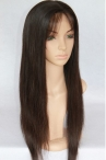 Indian remy silky straight full lace wigs natural color 22 inch