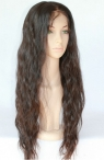 Custom natural wave lace wigs human hair natural color full lace wigs 20 inch