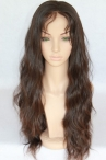 African american Malaysian virgin hair full lace wigs natural color natural straight 16 inch