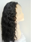 Cheap silk top full lace wigs human hair curly 18 inch #1