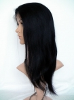 Full glueless lace wigs human hair yaki straight 14 inch #1